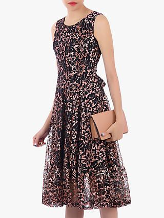 Jolie Moi Contrast Lace Dress