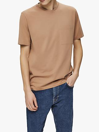 SELECTED HOMME Organic Cotton Pocket T-Shirt, Burro