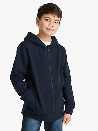 Kin Boys' Zip Through Hoodie, Navy