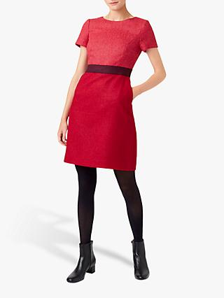 Hobbs Theresa Wool Dress, Pink/Black
