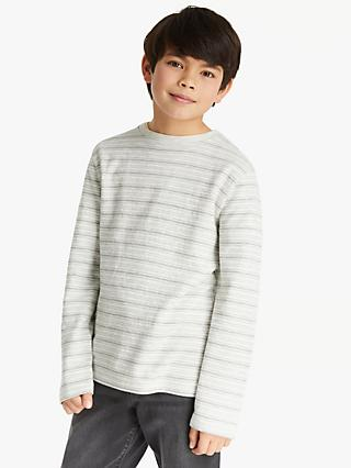 Kin Boys' Ottoman Towel Long Sleeve Top, Grey