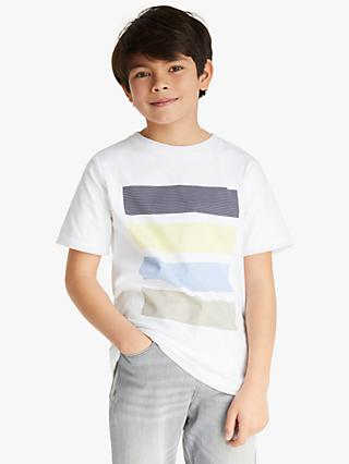 Kin Boys'  Graphic Block Stripe T-Shirt, White