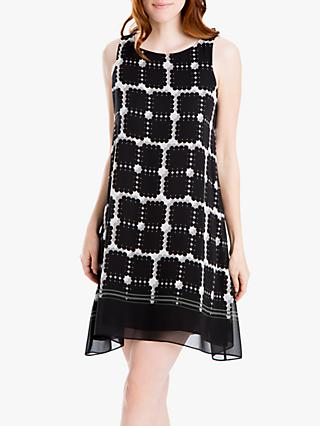 Max Studio Sleeveless Print Mini Dress, Black/Grey
