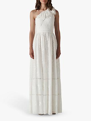 Whistles Adelaide Embroidered Wedding Dress, Ivory