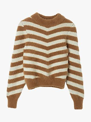Warehouse Soft Chevron Jumper, Beige
