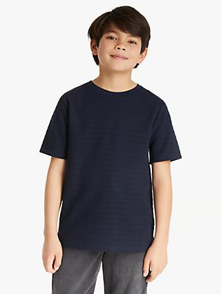 Kin Boys' Textured T-Shirt, Black