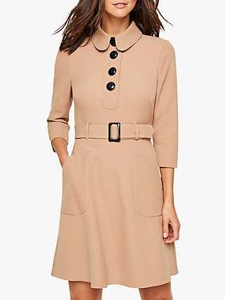 Damsel in a Dress Adie Button Detail Dress, Camel