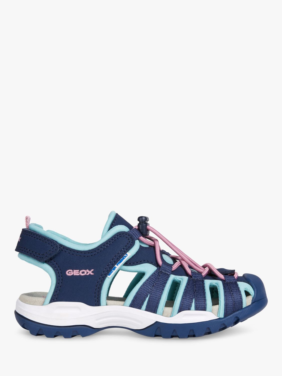 Geox Geox Children's Borealis Sandals, Navy/Aqua