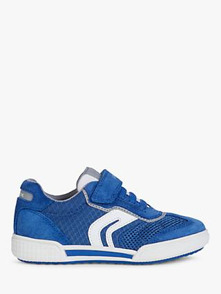 Geox Children's Poseido Trainers, Royal/Grey