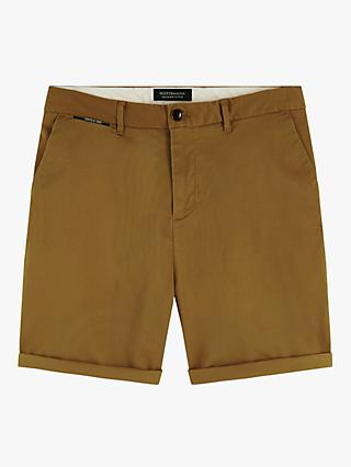 Scotch & Soda Pima Cotton Chino Shorts, Utility Green
