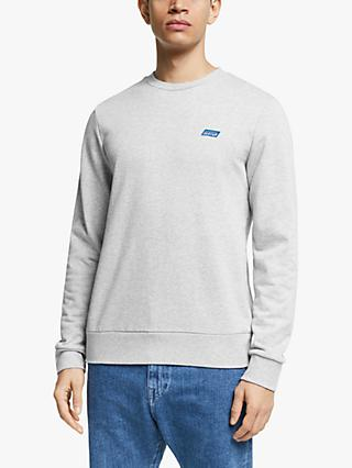 Scotch & Soda Crew Neck Logo Sweatshirt, Grey Melange