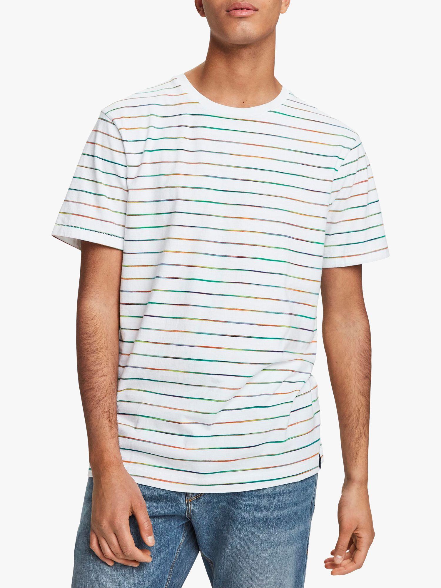 Scotch & Soda Scotch & Soda Stripe T-Shirt, White/Multi