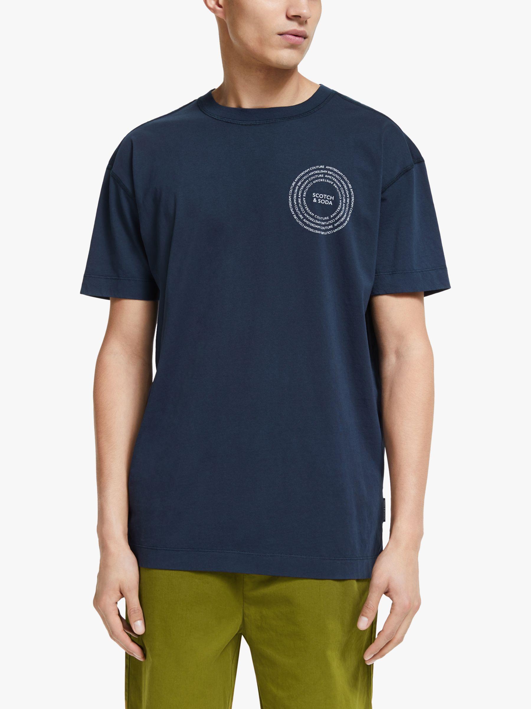 Scotch & Soda Scotch & Soda Clean Logo Organic Cotton T-Shirt, Night