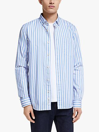 Scotch & Soda Yarn Dyed Stripe Shirt, Blue