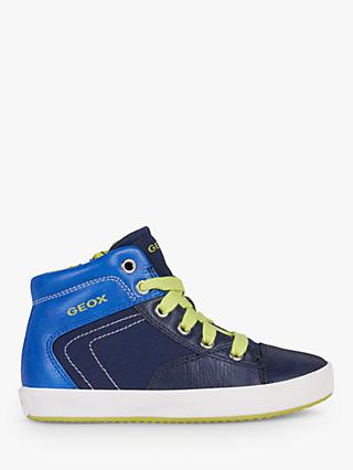 Geox Children's Gisli High Top Trainers, Navy/Royal