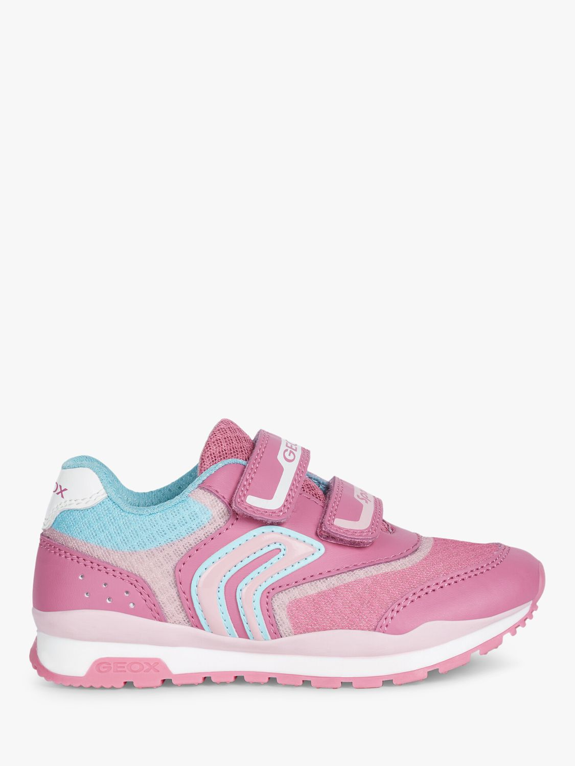 Geox Geox Children's Pavel Trainers, Fuschia/Pink