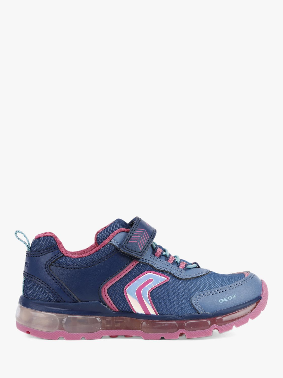 Geox Geox Children's Light Up Android Trainers, Navy/Pink