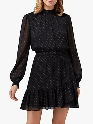 Forever New Callie Skater Dress, Black