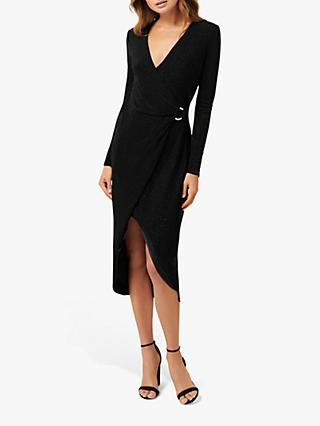 Forever New Effie Jersey Dress, Black Metallic