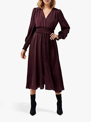 Forever New Evie Midi Dress, Wineberry