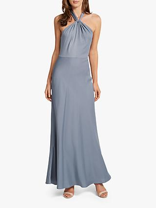 Forever New Chen Halter Gown Dress, Steel Blue
