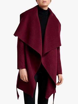 Forever New Opal Wool Wrap Coat, Wineberry