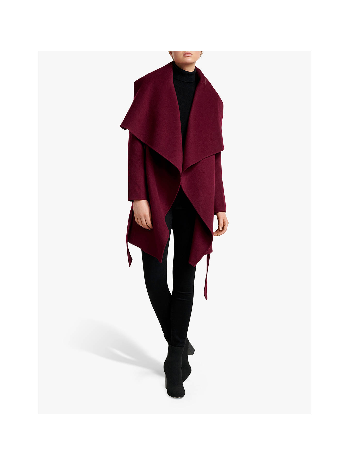 Buy Forever New Opal Wool Wrap Coat, Wineberry, 6 Online at johnlewis.com
