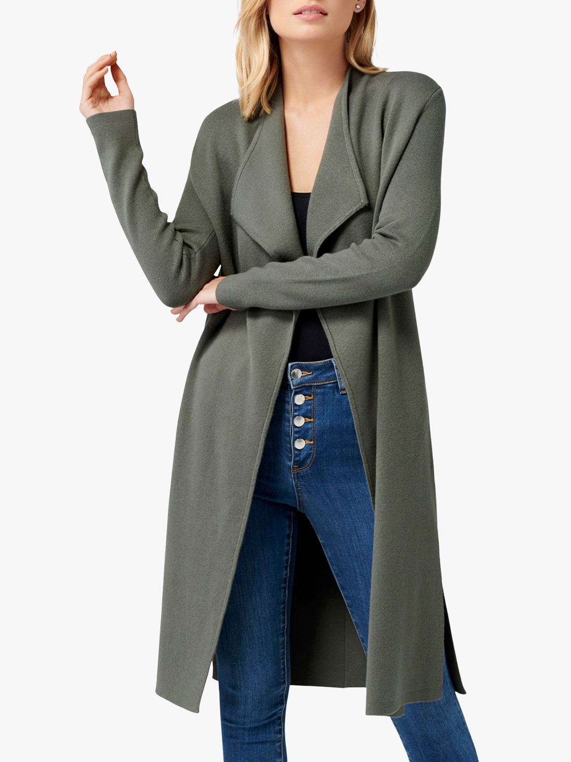 Forever New Forever New Olivia Fall Away Cardigan, Sage