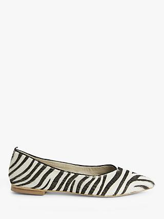 Boden Julia Pointed Toe Pumps, Zebra Print