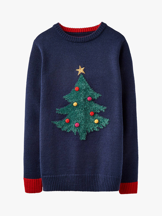 Buy Little Joule Children's Wallace and Gromit Christmas Jumper, Navy, 3 years Online at johnlewis.com