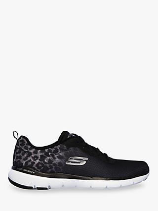 Skechers Flex Appeal 3.0 Lace Up Trainers, Black