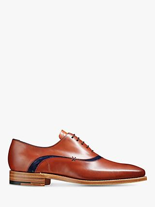 Barker Emerson Leather Shoes, Rosewood/Navy
