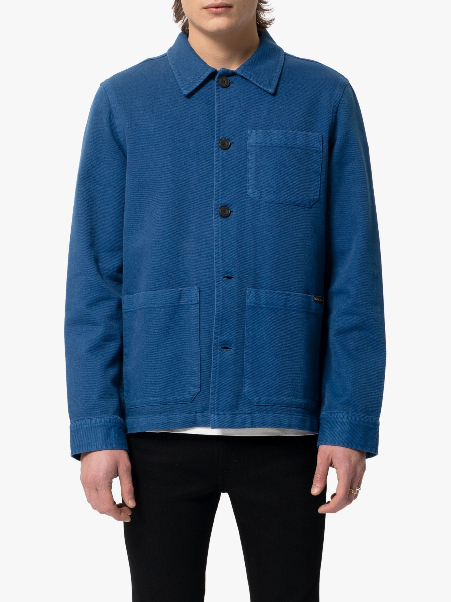 Nudie Jeans Nudie Jeans Barney Worker Shirt Jacket, Blue