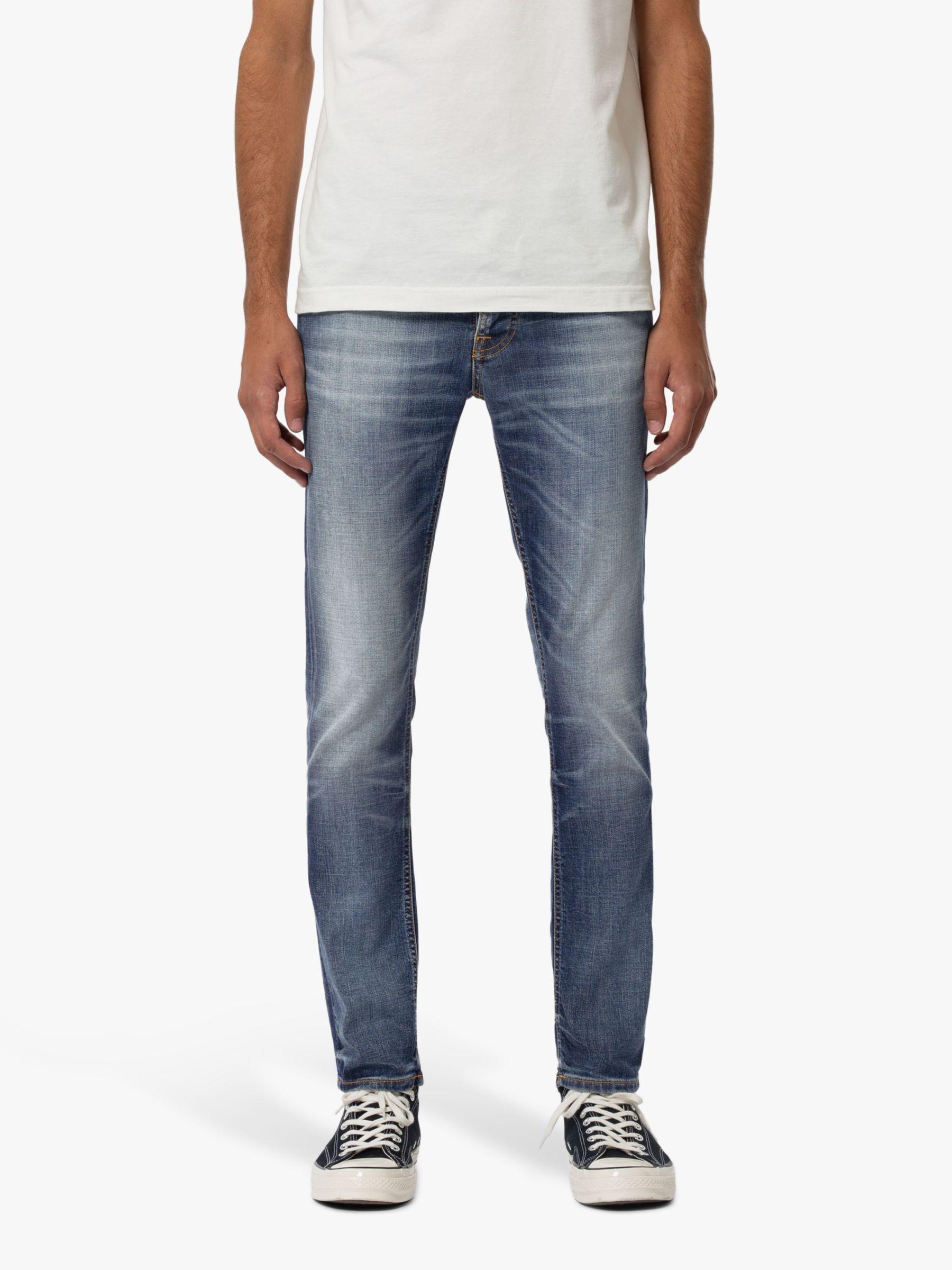 Nudie Jeans Nudie Jeans Slim Grim Tim Jeans, Worn In Broken