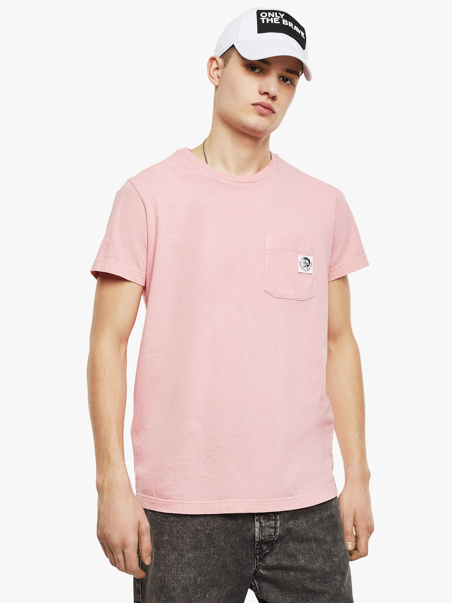 Diesel Diesel T-Worky Pocket Logo T-Shirt, Pink