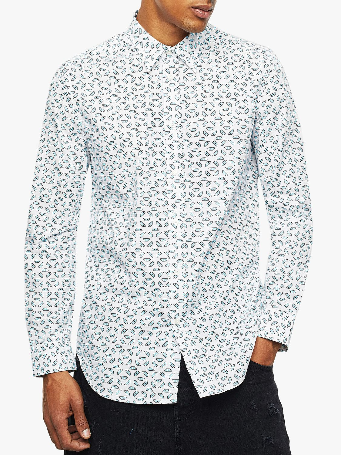 Diesel Diesel S-Cles Print Regular Fit Shirt, White