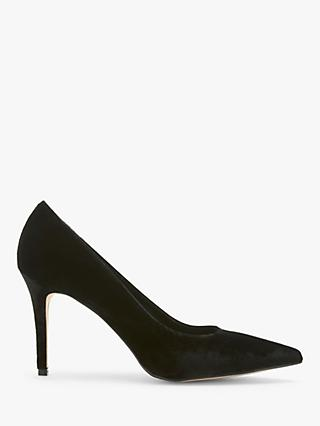 Mint Velvet Sarah Velvet Court Shoes, Black