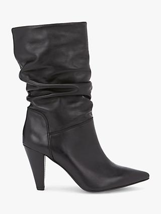 Mint Velvet Harley Cone Heel Calf Leather Boots