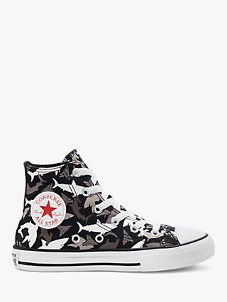 Converse Children's Chuck Taylor All Star Shark Bite High Top Trainers, Black/University Red/White