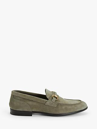 John Lewis & Partners Italian Suede Snaffle Loafers