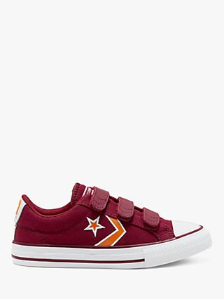 Converse Children's Easy-On Star Player Canvas Trainers, Team Red/Laser Orange/White