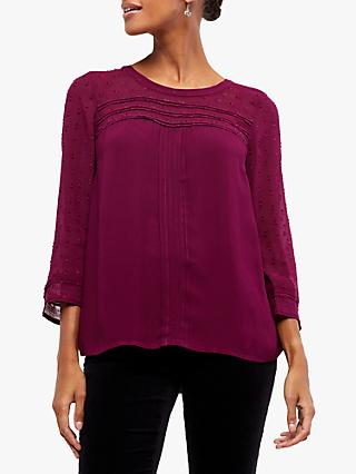 White Stuff Violet Blouse, Cranberry Plum