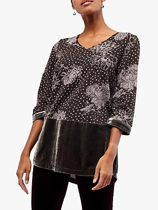White Stuff Opulence Tunic Top, Charcoal
