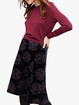White Stuff Festive Maple Skirt, Purple