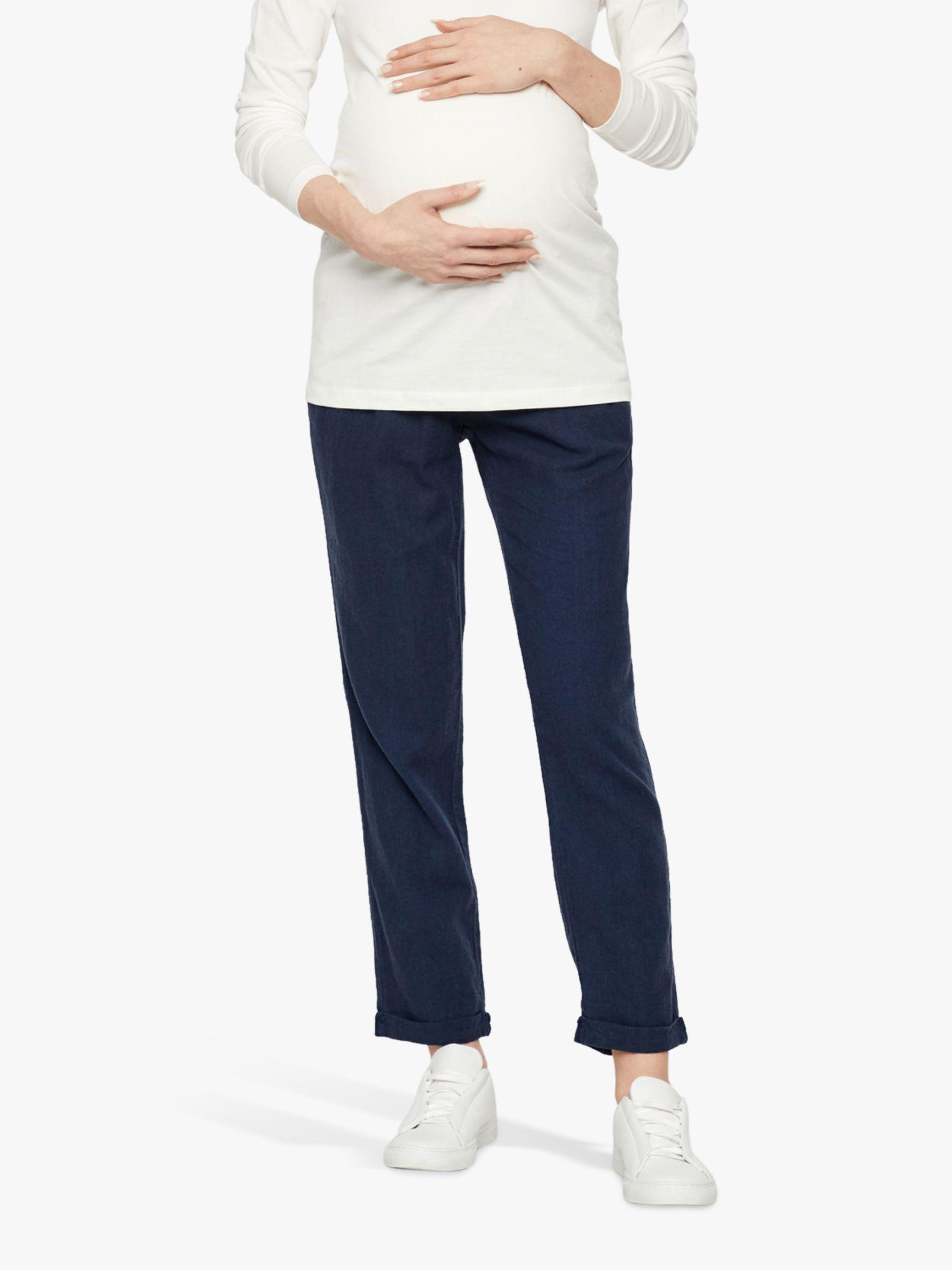 Mamalicious Mamalicious Beach Woven Maternity Trousers, Blue