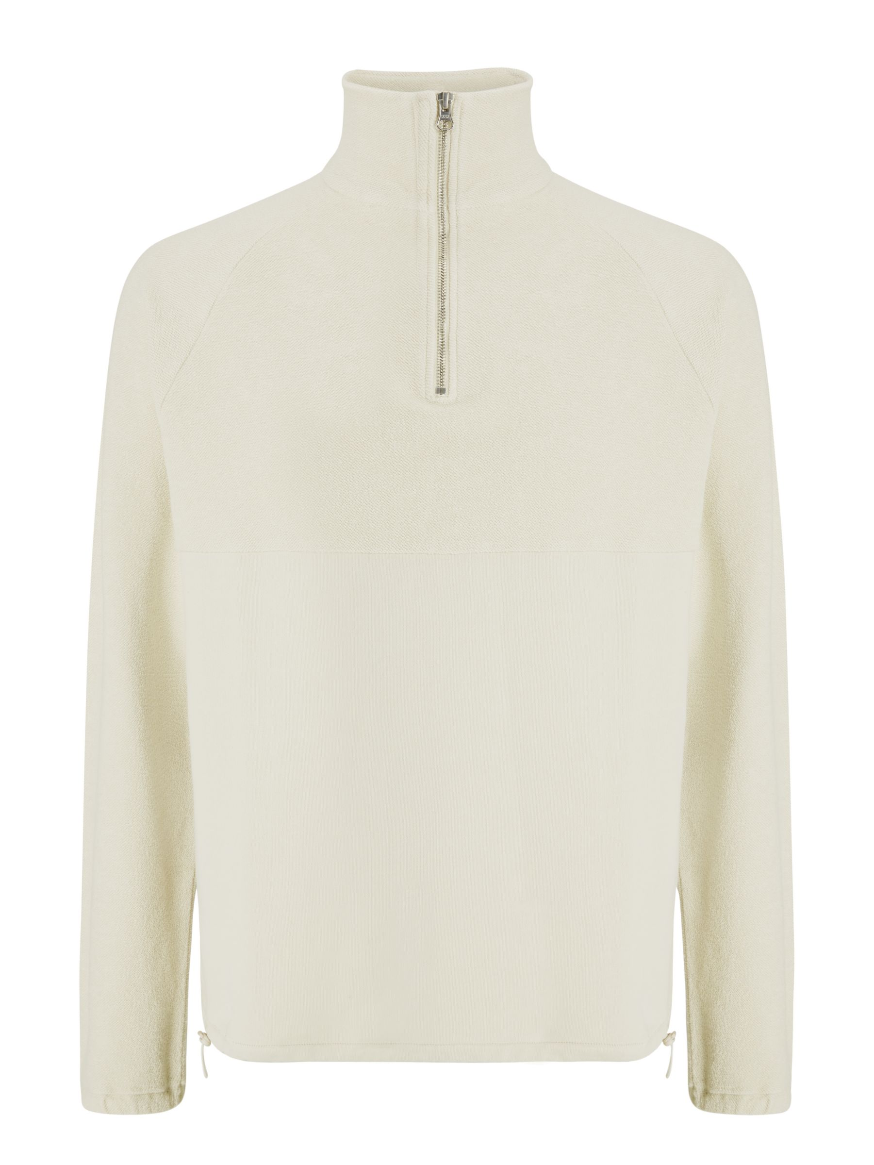 Buy Les Basics Le Zip Jersey Pull Over Top, Stone, S Online at johnlewis.com