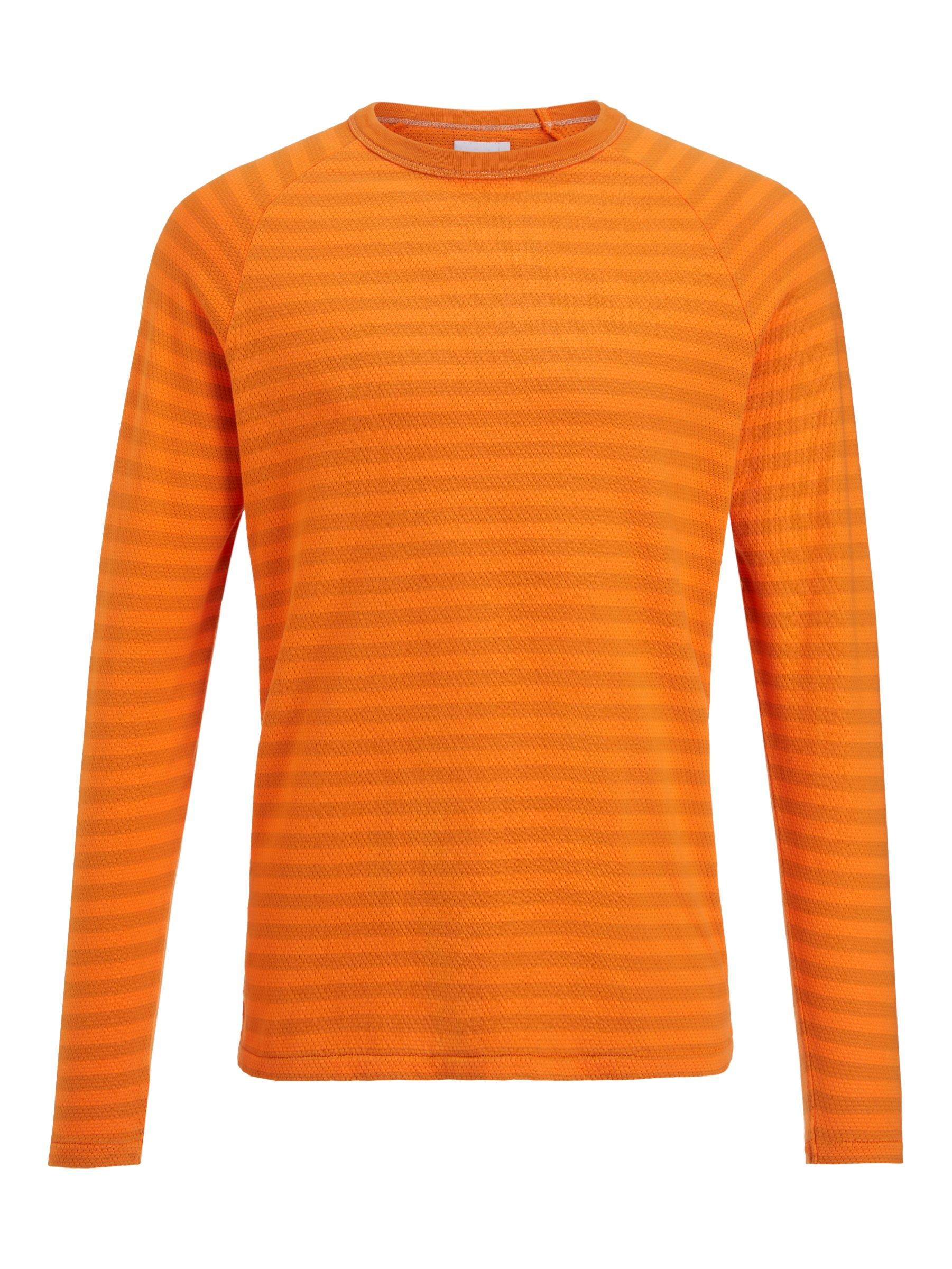Buy Les Basics Le Crew Tee Long Sleeve Striped T-Shirt, Orange, S Online at johnlewis.com