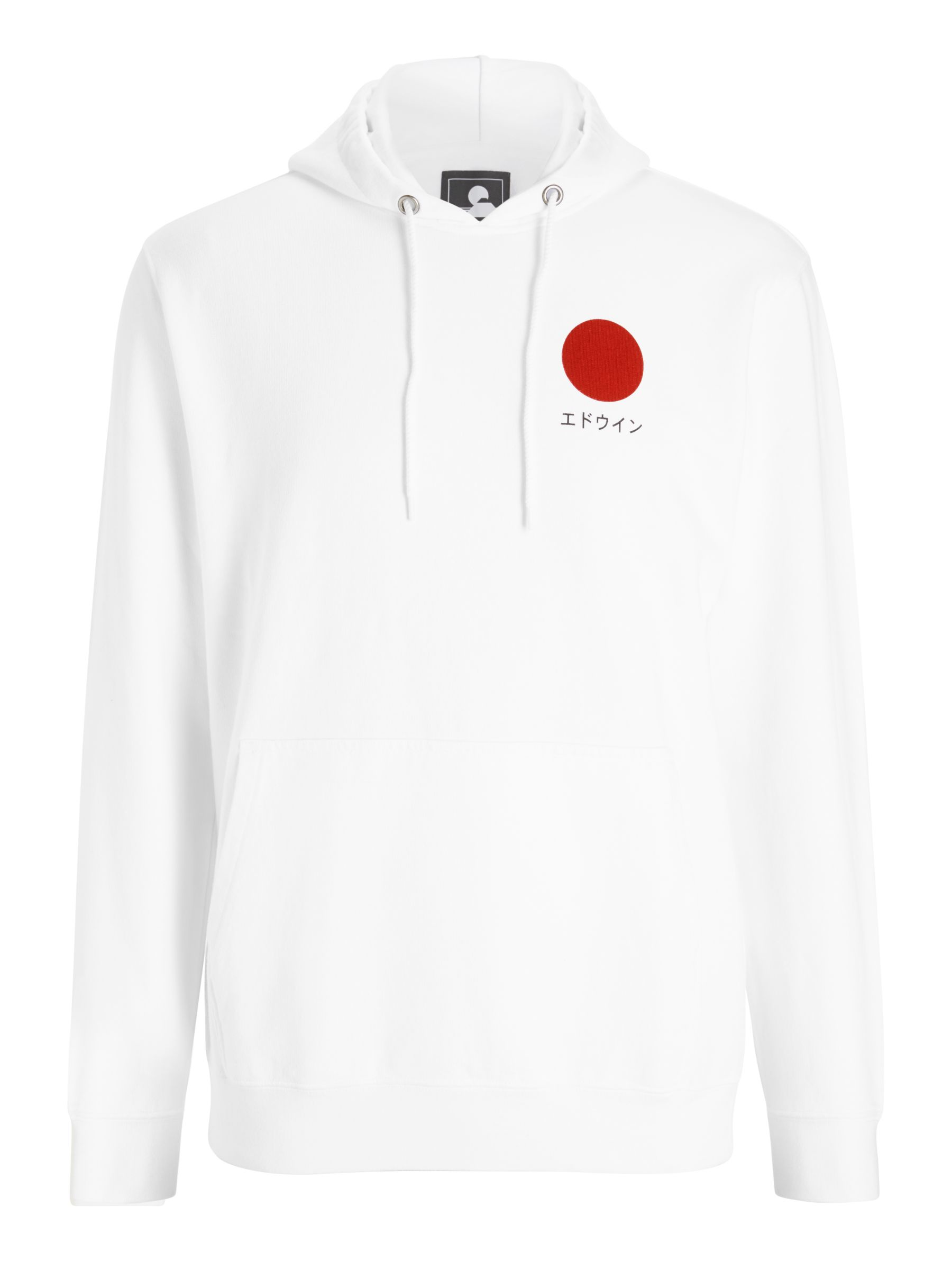 Buy Edwin Japanese Sun Hoodie, White, S Online at johnlewis.com