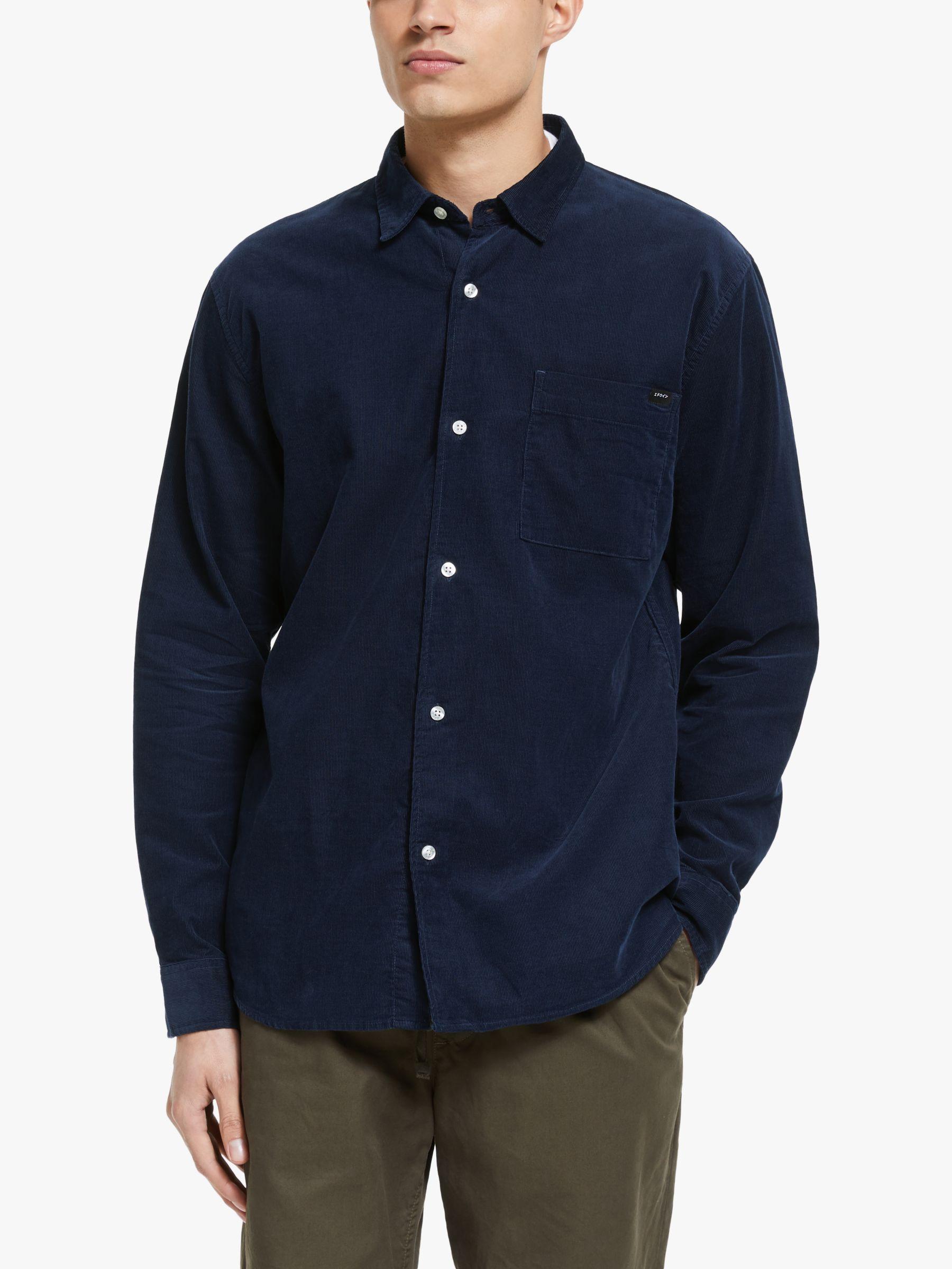 Edwin Edwin Minimal Corduroy Shirt, Navy