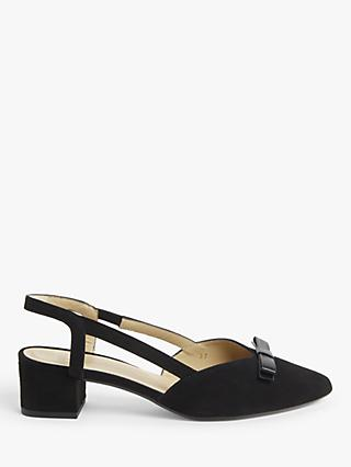 John Lewis & Partners Belinda Suede Bow Slingback Court Shoes
